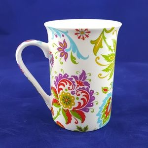 Kent Pottery Coffee Tea Cup English Floral Influen